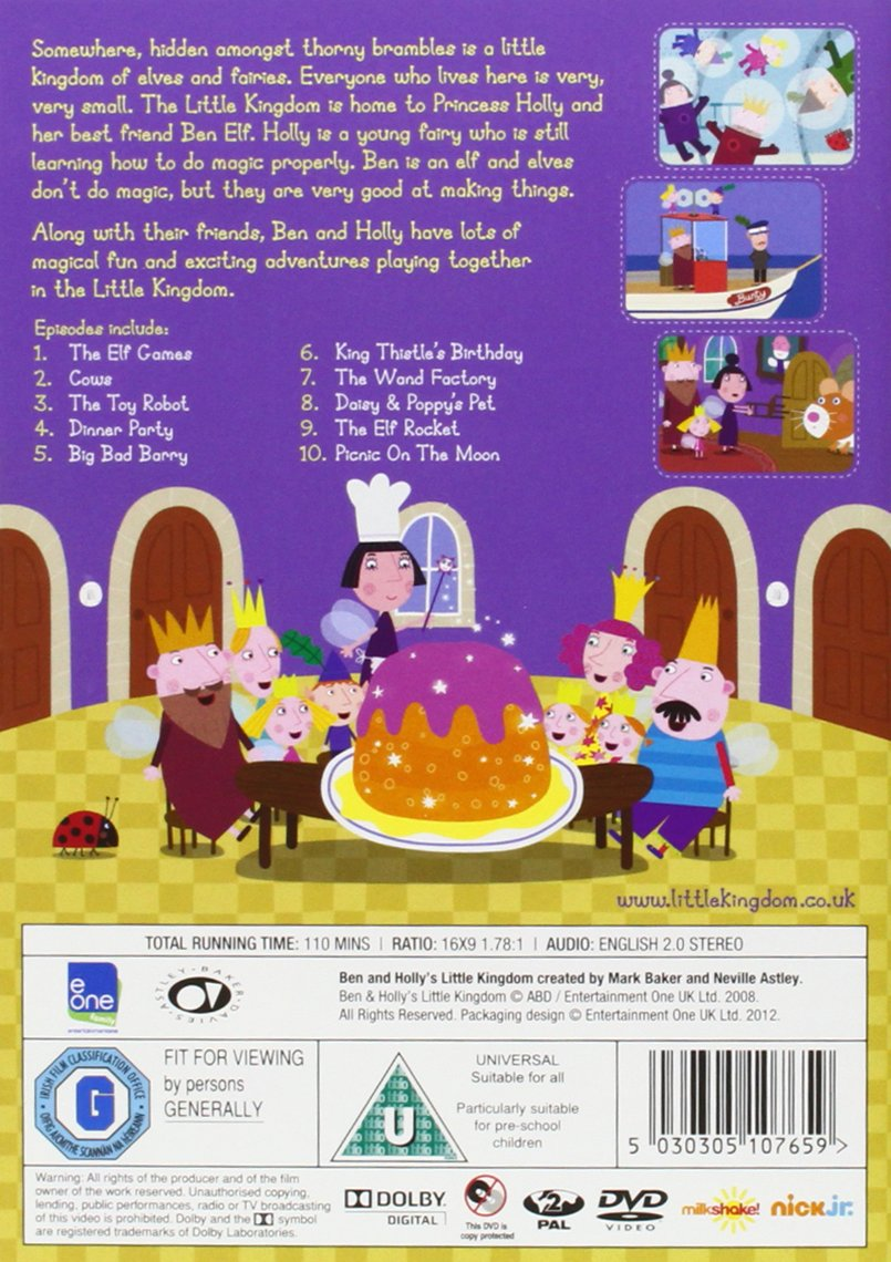 Ben and Holly\'s Little K. Vol. 4 - The Elf Games packaging may ...