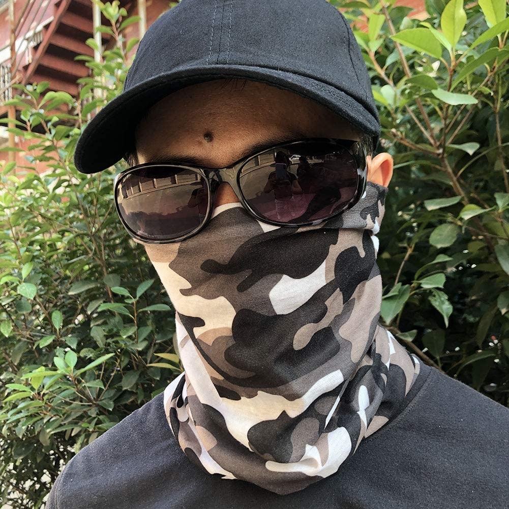 iQKA 1PC 3PC Balaclava Unisex Seamless Bandana Face Mask Rave Camo Headband Outdoor Sports Tube Scarf