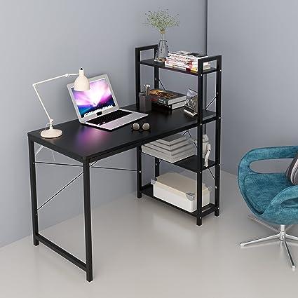 Mueble para ordenador portátil con 4 estantes de CherryTree Furniture para montar un puesto