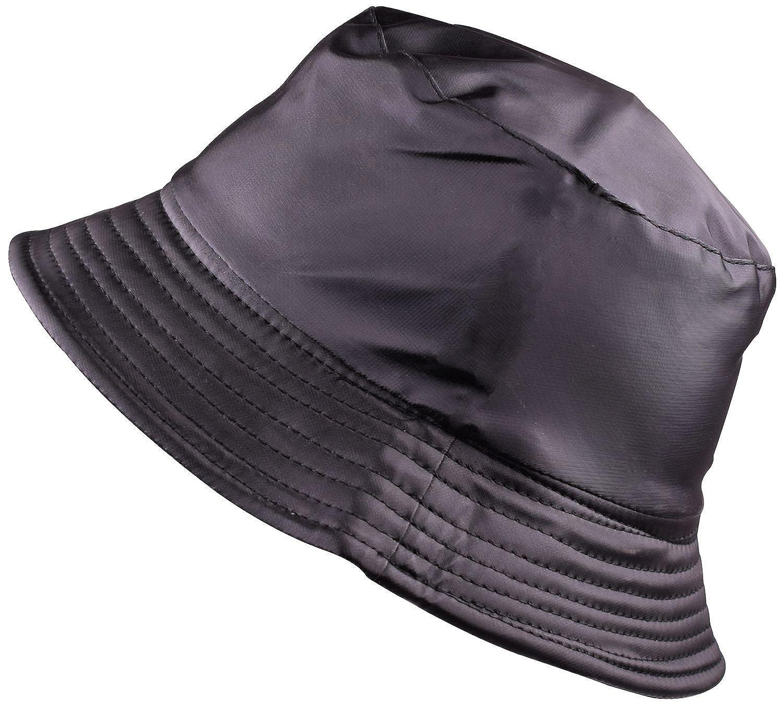 013765262c703 BODY STRENTH Womens Bucket Rain Hat Waterproof Packable Black at Amazon  Women s Clothing store
