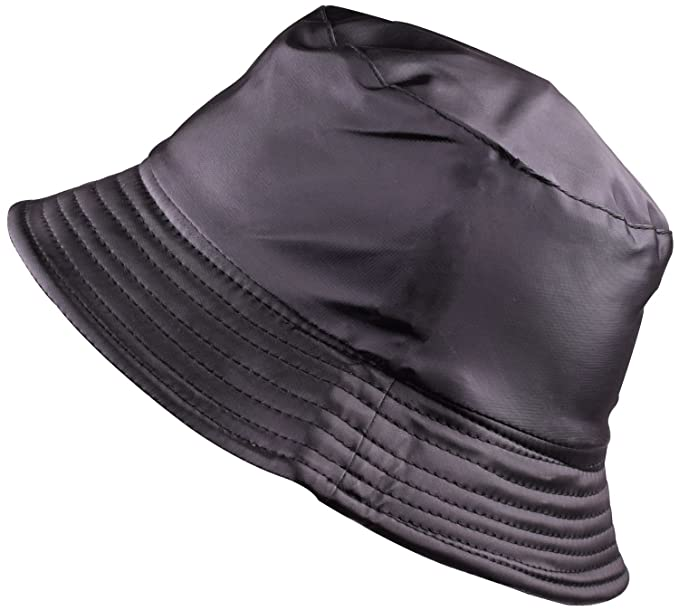 BODY STRENTH Womens Bucket Rain Hat Waterproof Packable Black at ... 45e6f9f7c69