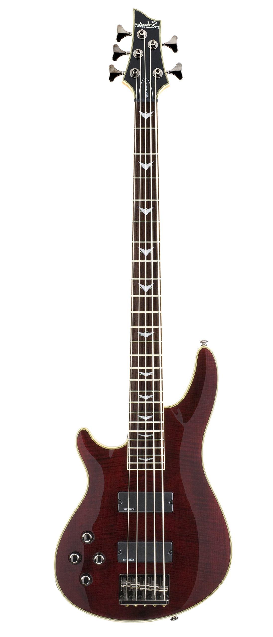 Schecter Omen Extreme-5 Bass Guitar (Black Cherry, Left Handed)