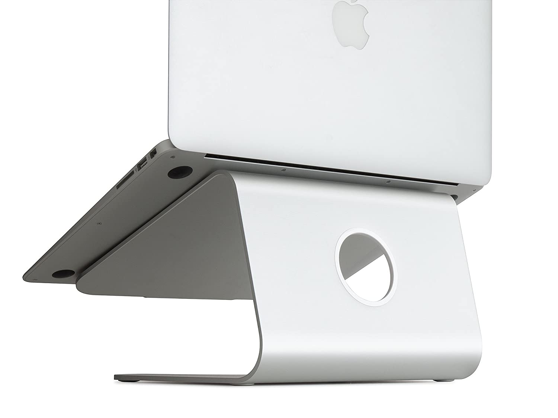 apple macbook pro notebook mstand laptop stand riser desk rain design silver new 891607000322 ebay. Black Bedroom Furniture Sets. Home Design Ideas