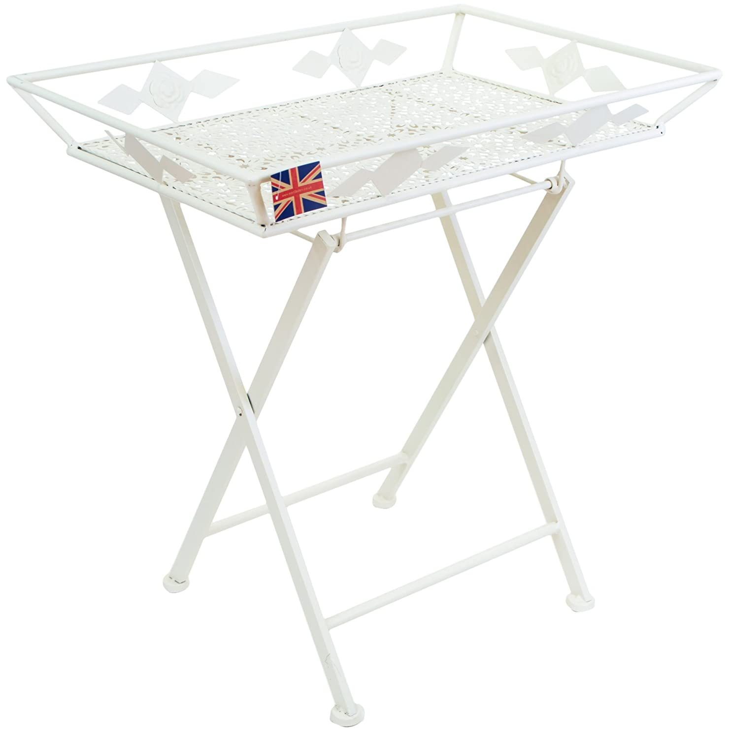 East2eden Vintage Retro Cream Metal Butlers Butleru0027s Serving Garden Tray  Table Stand: Amazon.co.uk: Kitchen U0026 Home