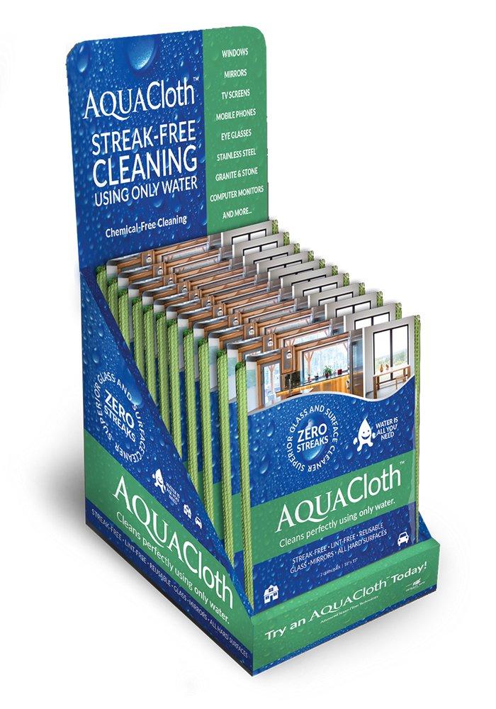 AquaCloth AQ500-24 AquaCloth AQ500 Nano-Fiber 18'' x 15'' Cleaning Towel Shipper (24 Packs of 2 Cloths), Thickness (Pack of 24) by AquaCloth (Image #1)