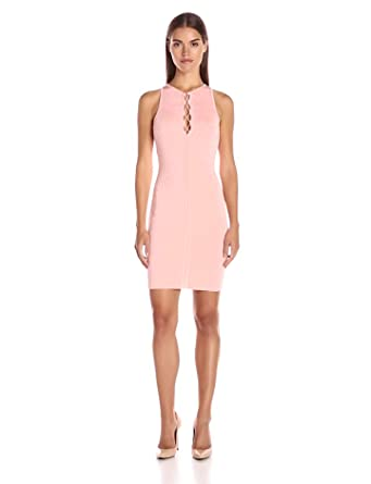 Coral color dress from guess