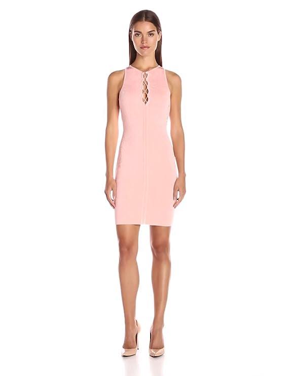 Amazon.com: Guess Women\'s Sleeveless Mirage Bodycon Lace up Dress ...