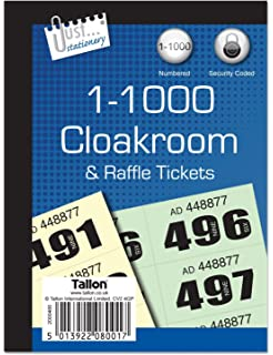10 books of 1 1000 cloakroom raffle tombola tickets 10 different colours bingo house top christmas gifts 2018