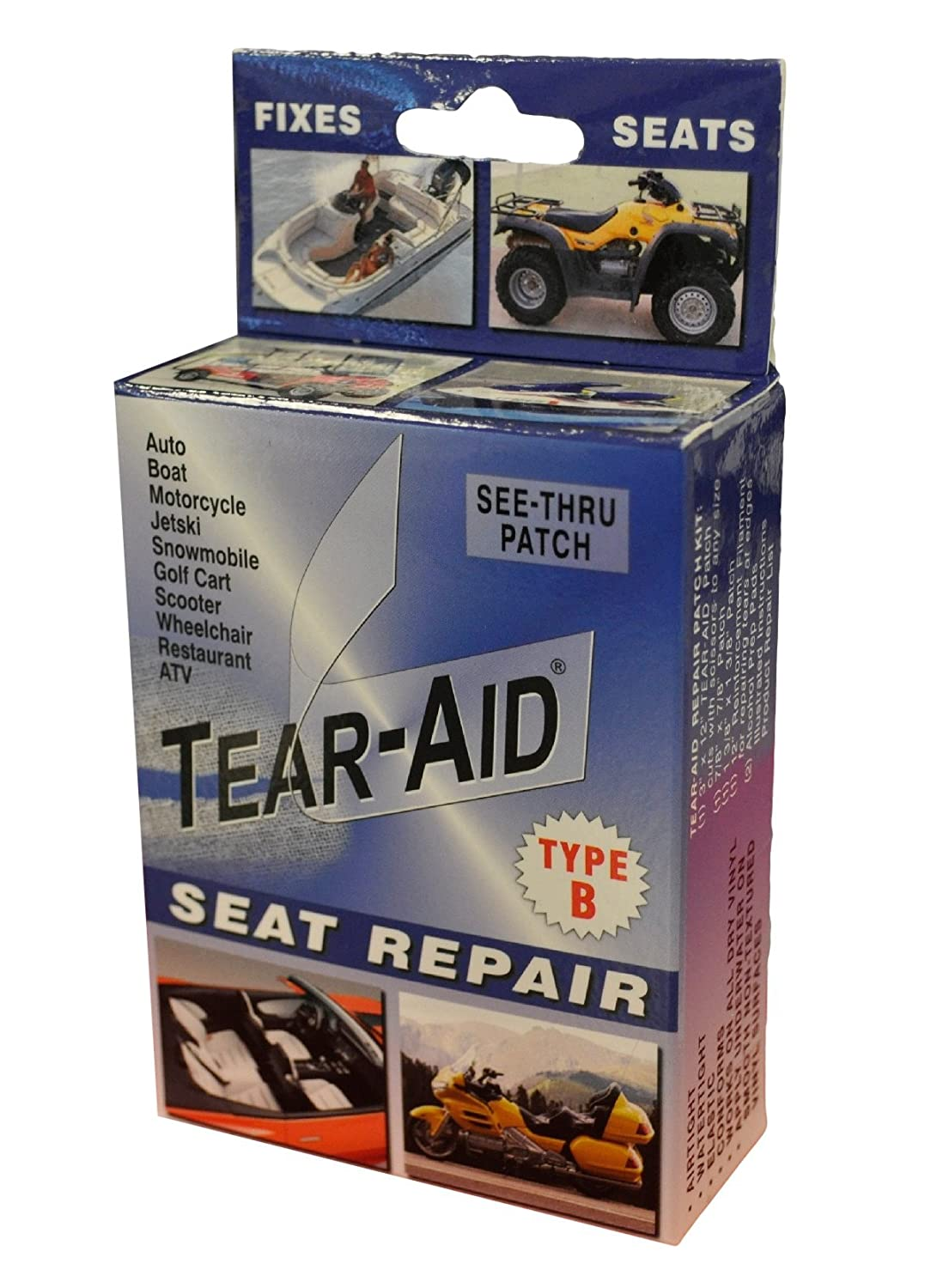 Amazoncom TearAid Repair Type B Vinyl Seat Repair Kit Sports - Vinyl for motorcycle seat