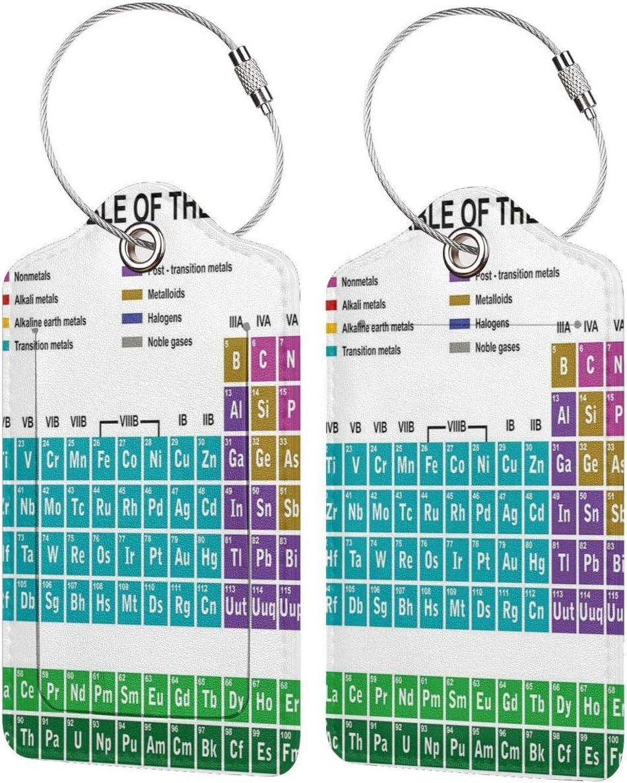 SIONOLY Etiquetas para Equipaje,Arte Educativo para el Aula Laboratorio de Ciencias Club de química Campamento Niños,4 Piezas Etiquetas de Equipaje de Viaje de la Maleta para Mochila