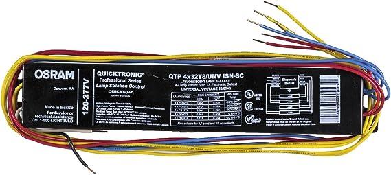 [SCHEMATICS_44OR]  Sylvania / Osram 49908 - QTP4X32T8/UNV-ISN-SC-B T8 Fluorescent Ballast - -  Amazon.com | Sylvania Ballast Wiring Diagram |  | Amazon.com