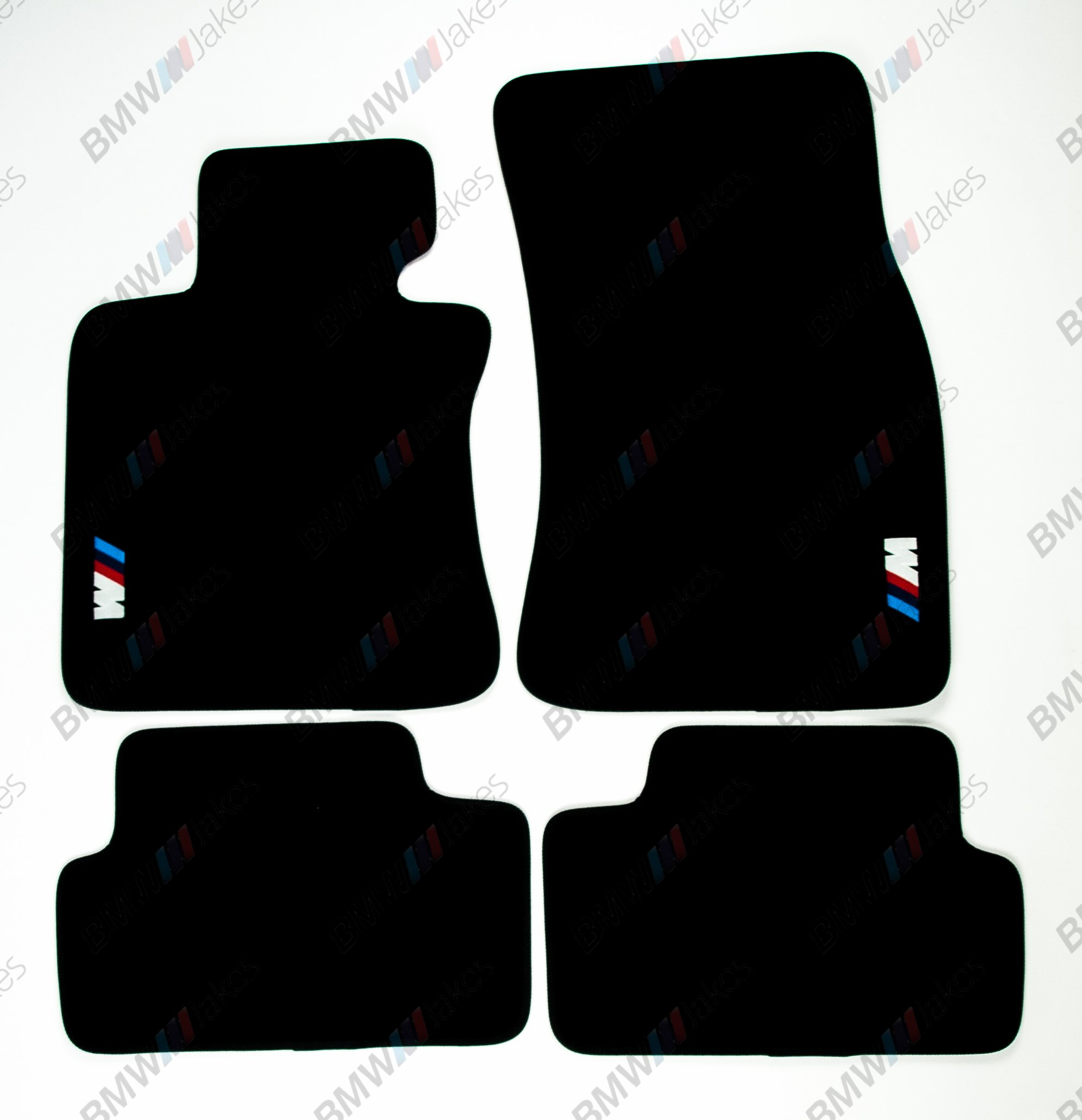 NEW CAR FLOOR MATS BLACK with ///M EMBLEM for BMW 6 series E63 by VOPI MATS (Image #1)