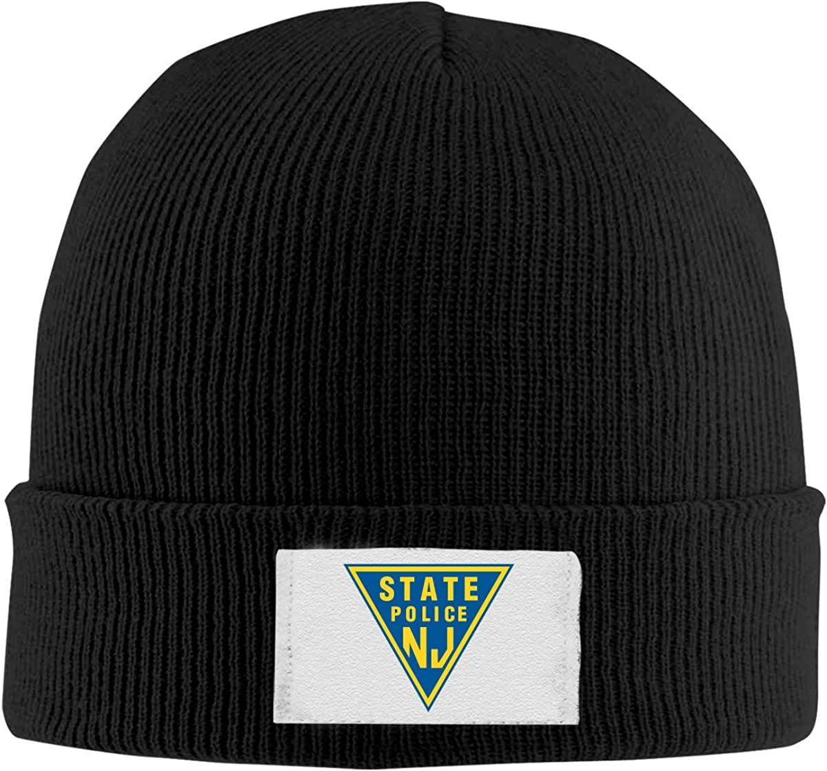 New Jersey State Police Top Level Beanie Men Women Unisex Stylish Slouch Beanie Hats Black