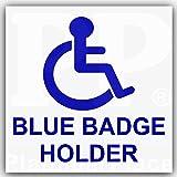 """Auto Aufkleber """"Blue Badge Holder"""", selbstklebend"""