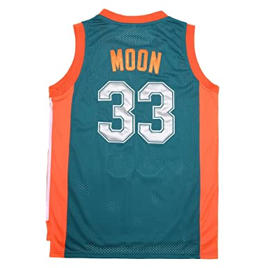 82f66d54 Amazon.com: ZHUDEMAO NO.33 Jackie Moon Flint Tropical Semi-professional Basketball  Movie Throwback Stitched Jerseys Green: Clothing