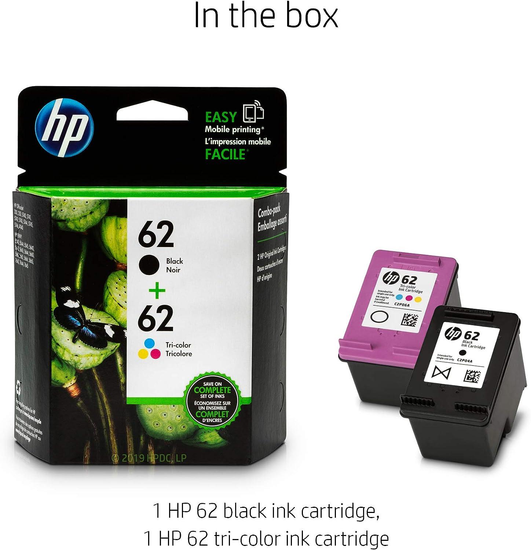 Amazon.com: Cartuchos de tinta 62 negro y tricolor, 2 ...