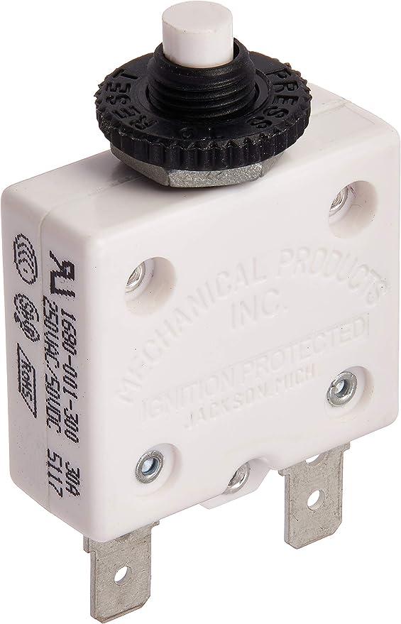 Bussmann Mid Range Manual Reset 40A Panel Mount Circuit Breaker 32V