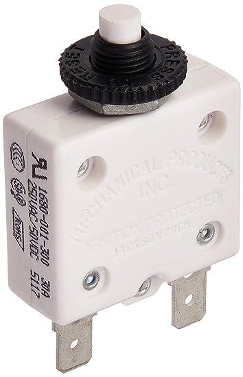 Bussmann CB174-30 CB174 Series, Type III, Manual Reset Panel Mount Circuit  Breaker (30 Amp), 1 Pack