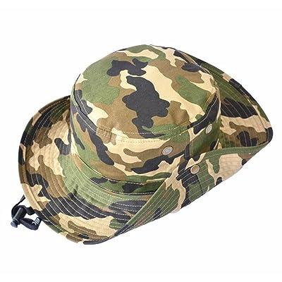 WESIZER Kids Boys Man Camouflage Hat Navy Fishman Cap Sun Protection Bucket Hat Blue
