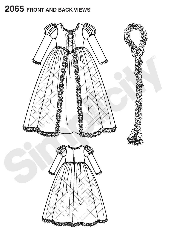 Simplicity A 3-4-5-6-7-8 2065 - Patrones de costura para hacer ...