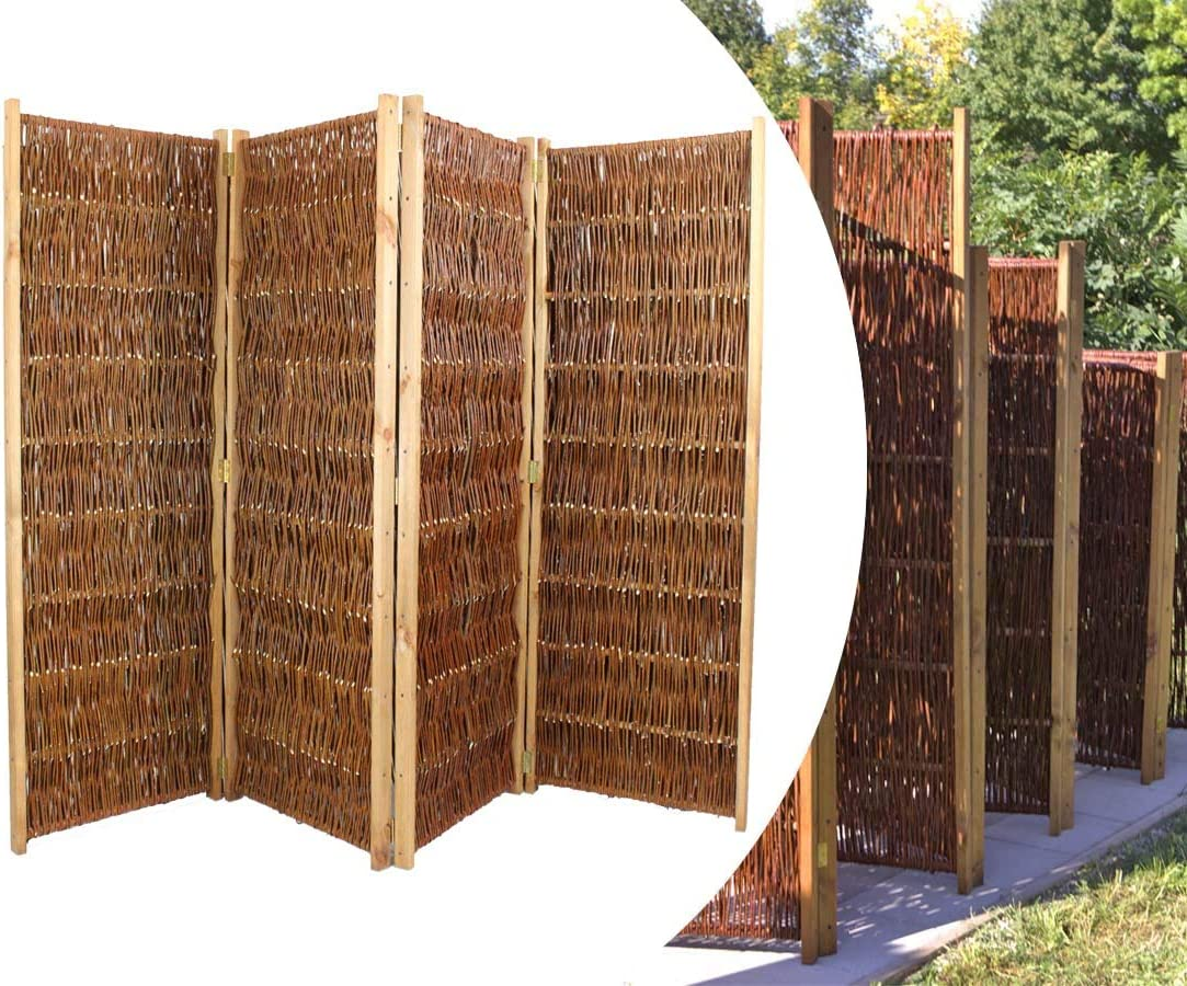 Bambus Discount Com Raumteiler Aus Weiden Paravent Hohe 120cm X