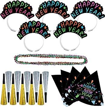 Amazon.com: Amosfun 12pcs NYE Party Supplies Set 12 Happy New