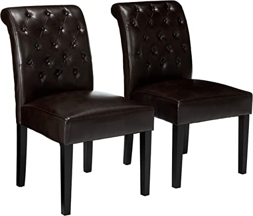 Christopher Knight Home Palermo Leather Tufted Dining Chair