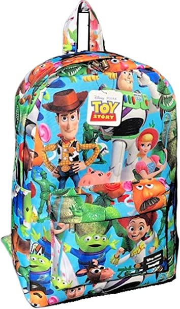"""A16507 Buzz Woody in Toy Story 4 White 16/"""" Large All Over Print Backpack"""
