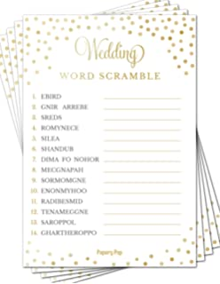 wedding word scramble game cards 50 pack bridal shower games bachelorette party