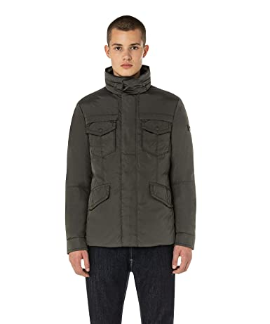 Amazon.com: Peuterey Mens Field Jacket in Technical Oxford Green: Clothing