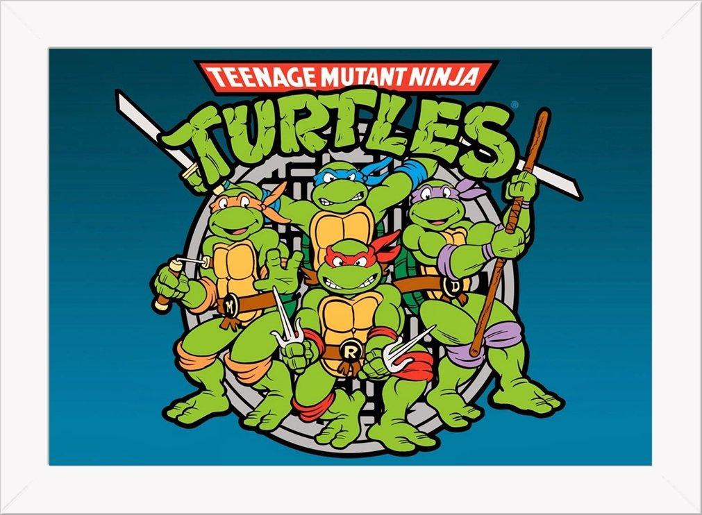 Cuadro Decorativo Tortugas Ninja 3: Amazon.es: Hogar