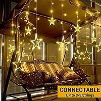 Elgear Guirnalda luces Estrella 138 LED 8 Modos