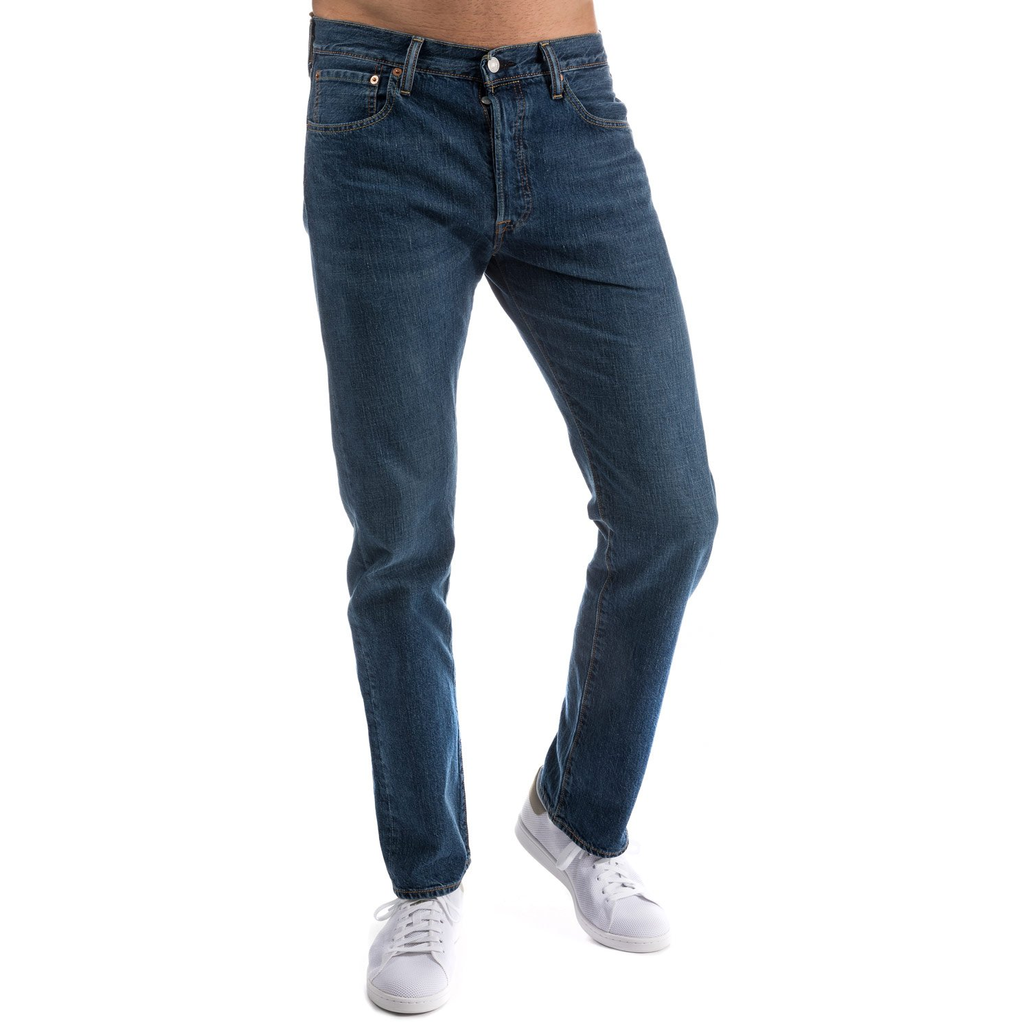 7821202a Levi's original fit 501 men's jeans straight leg, button-fly, W 34 L 34:  Levis: Amazon.co.uk: Clothing