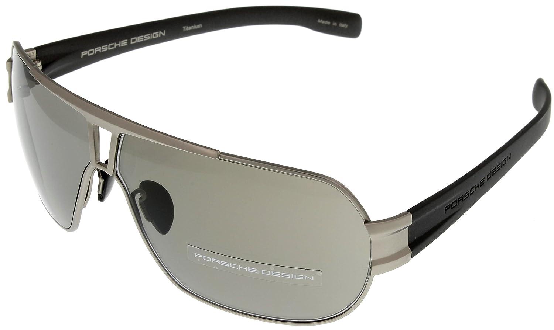e214b55498a Amazon.com  Porsche Design Sunglasses Titanium Mens P8516 D Aviator   Clothing