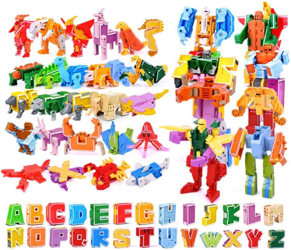 NUOBESTY 1 Conjunto de Alfabeto Robot Juguetes ABC Aprendizaje ...