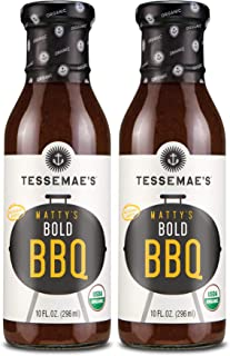 product image for Tessemae's Matty's Bold BBQ Sauce, 2-Pack, USDA Organic Barbecue Sauce, Whole30 Certified, Keto Friendly
