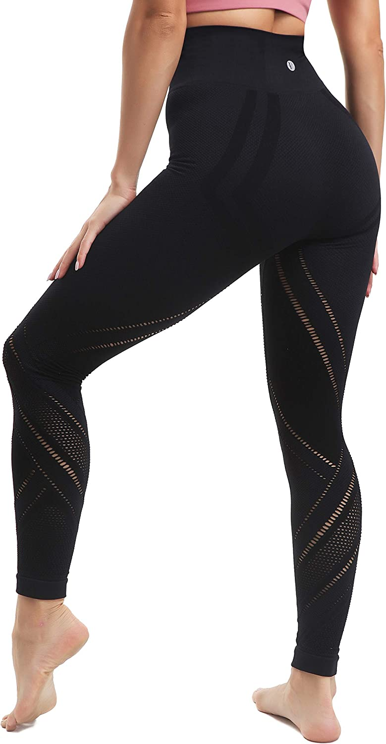 RUNNING GIRL Women's High Waist Yoga Pants, Workout Power Flex Tummy Control Fit Compression Athletic Leggings
