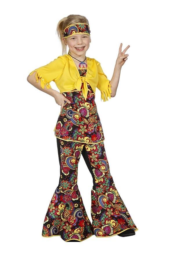 Disfraz disco hippie niña 15-16 años (176 cm): Amazon.es: Juguetes ...