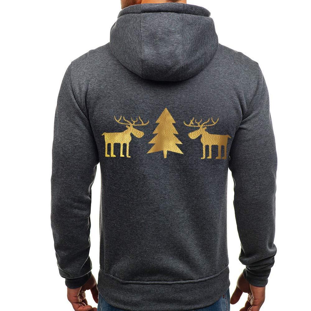 Overdose Camisa De La Blusa De Los Hombres del Jersey del OtoñO De La Moda Superior Impreso Sudadera De Navidad Outwear Blusa De Invierno: Amazon.es: Ropa y ...