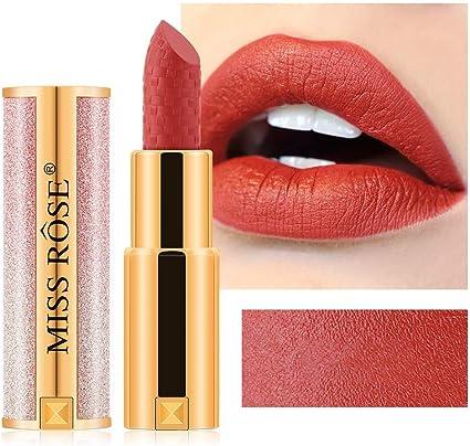 ARTIFUN Lápiz Labial Mate Tinte de Larga Duración Labios Cosméticos Maquiagem Maquillaje Rojo Batom Lip Stick para Todo tipo de Piel