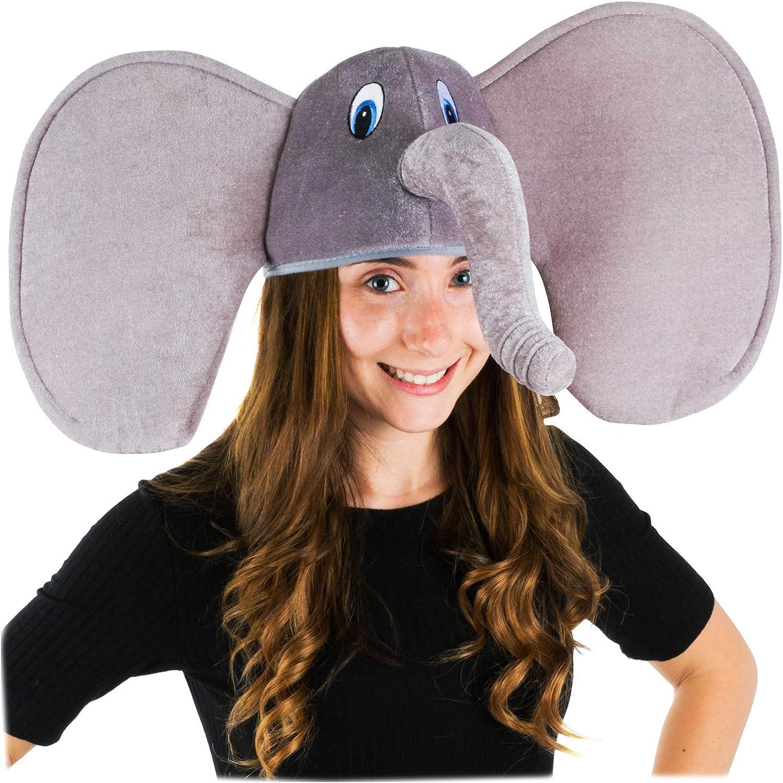 Adult Giant Animal Ears /& Tail Set Unisex Zoo Fancy Dress Costume
