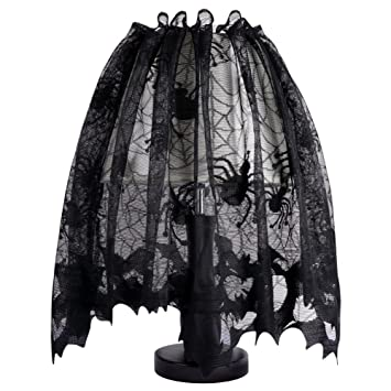 Amazon aytai halloween black lamp shades cover with ribbon aytai halloween black lamp shades cover with ribbon lace spider fireplace mantle scarf cover window aloadofball Images