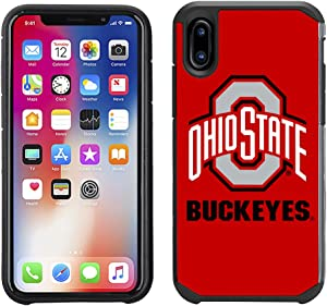 Prime Brands Group Textured Team Color Cell Phone Case for Apple iPhone X - NCAA Licensed Ohio State University Buckeyes