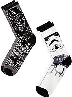 Star Wars Mens Darth Vader & Stormtrooper Casual Crew Socks 2 Pack