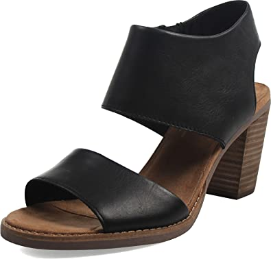 20a38ea52ae Toms Women's Majorca Cutout Sandal - Black Leather, 12 B(M) US