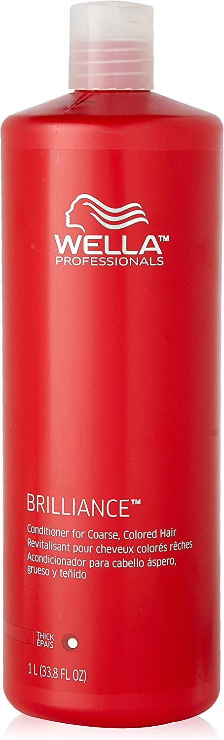 Wella Brilliance Conditioner for Coarse Colored Hair for Unisex, 33.8 Ounce