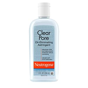 Neutrogena Clear Pore Oil-Eliminating Astringent with Salicylic Acid, Pore Clearing Treatment for Acne-Prone Skin, 8 fl. oz, pack of 6