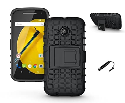 reputable site cddf8 70808 TCA Ar E2 BL Bumper Back Case Cover For Motorola Moto E 2nd Gen E2 (3G &  4G) - Black