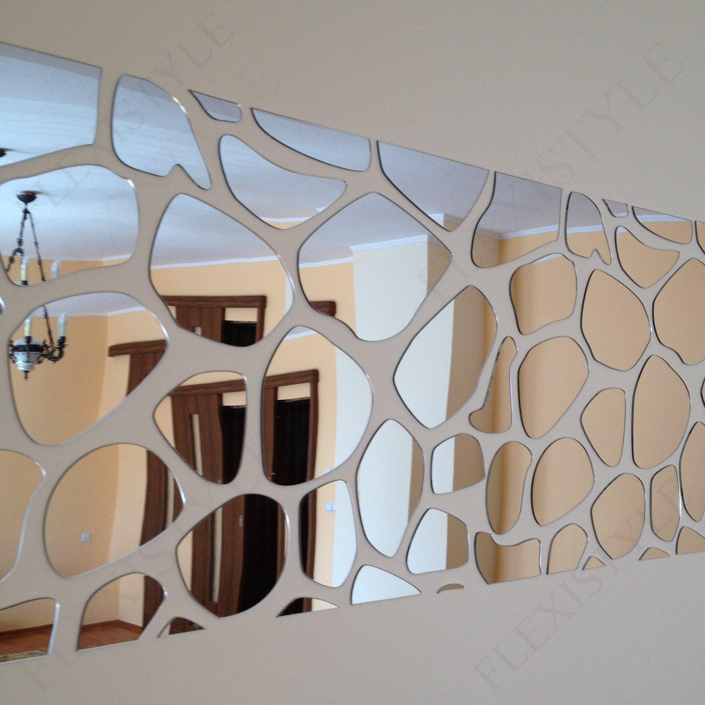 Large acrylic wall mirror decor rocks 140x70cm unbreakable large acrylic wall mirror decor rocks 140x70cm unbreakable living room bedroom mirror unusual amazon kitchen home amipublicfo Gallery