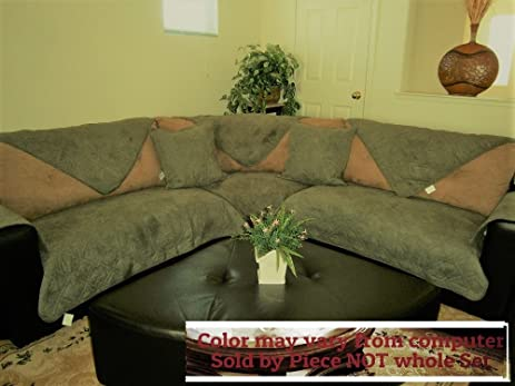 ou0027fit quilted soft micro suede custom sectional sofa slipcovers pad furniture protector sold by